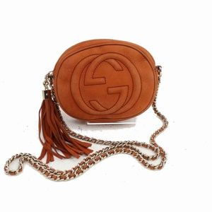 Gucci Burnt Orange Soho Disco Chain Cross Body